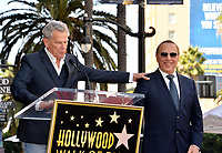 LOS ANGELES, CA. October 10, 2019: David Foster & Tommy Mottola at the Hollywood Walk of Fame Star Ceremony honoring Tommy Mottola.<br /> Pictures: Paul Smith/Featureflash