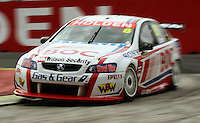 Team BOC's Jason Richards takes Holden Corner during qualifying for Race Two during Day Three of the Hamilton 400 Aussie V8 Supercars Round Two at Frankton, Hamilton, New Zealand on Sunday, 19 April 2009. Photo: Dave Lintott / lintottphoto.co.nz