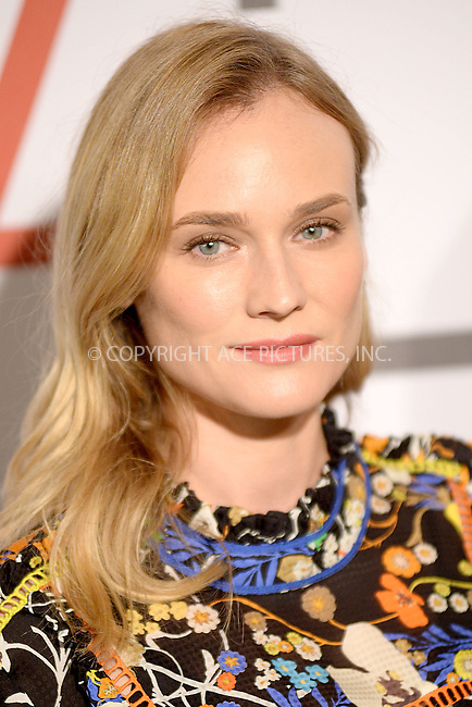 WWW.ACEPIXS.COM<br /> September 28, 2015 New York City<br /> <br /> Diane Kruger attending the Fashion 4 Development's 5th annual Official First Ladies luncheon at The Pierre Hotel on September 28, 2015 in New York City.<br /> <br /> Credit: Kristin Callahan/ACE Pictures<br /> <br /> Tel: (646) 769 0430<br /> e-mail: info@acepixs.com<br /> web: http://www.acepixs.com