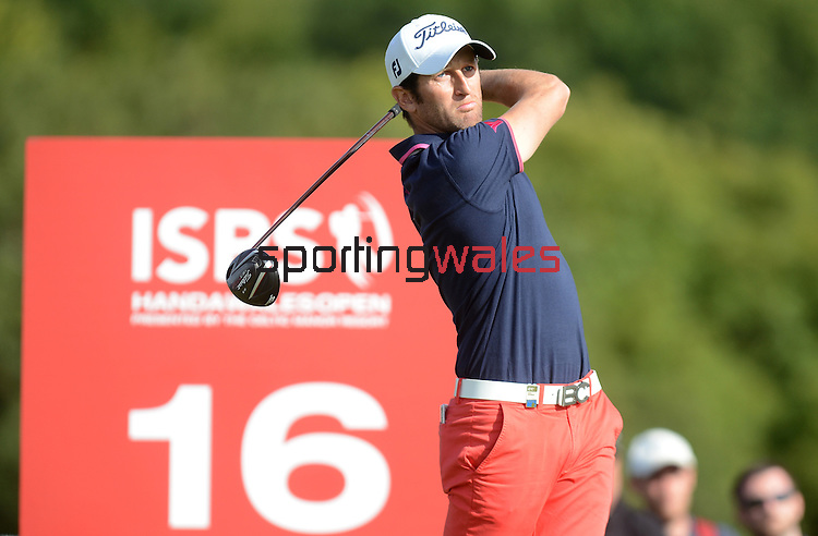France's Gregory Bourdy in action during todays round<br /> <br /> Golf - Day 4 - ISPS Handa Wales Open 2013 - Twenty Ten Course- Sunday 1st September 2013 - Celtic Manor Resort  - Newport<br /> <br /> © www.sportingwales.com- PLEASE CREDIT IAN COOK
