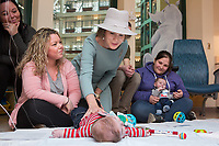 Queen Mathilde of Belgium visits the Sick Kids Hospital in Toronto while on a State Visit to Canada