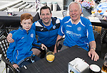 FK Trakai v St Johnstone…05.07.17… Europa League 1st Qualifying Round 2nd Leg<br />Saints fans in Vilnius ahead of kick off, from left, Matthew (11), Graeme and Tom Doig, three generations<br />Picture by Graeme Hart.<br />Copyright Perthshire Picture Agency<br />Tel: 01738 623350  Mobile: 07990 594431
