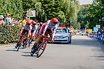Stage 2 TTT from Bruxellles to Brussel of the 106th Tour de France, 7 July 2019. Photo by Thomas van Bracht / PelotonPhotos.com | All photos usage must carry mandatory copyright credit (Peloton Photos | Thomas van Bracht)