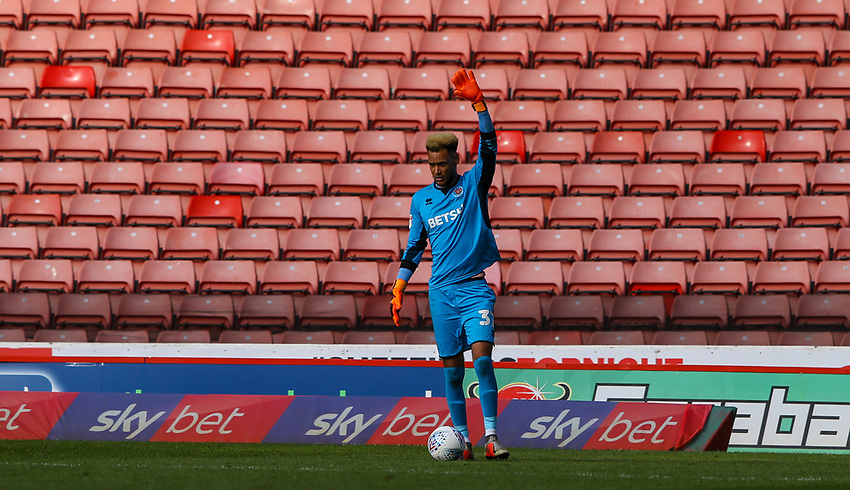 Blackpool's Christoffer Mafoumbi in action<br /> <br /> Photographer Alex Dodd/CameraSport<br /> <br /> The EFL Sky Bet League One - Barnsley v Blackpool - Saturday 27th April 2019 - Oakwell - Barnsley<br /> <br /> World Copyright © 2019 CameraSport. All rights reserved. 43 Linden Ave. Countesthorpe. Leicester. England. LE8 5PG - Tel: +44 (0) 116 277 4147 - admin@camerasport.com - www.camerasport.com