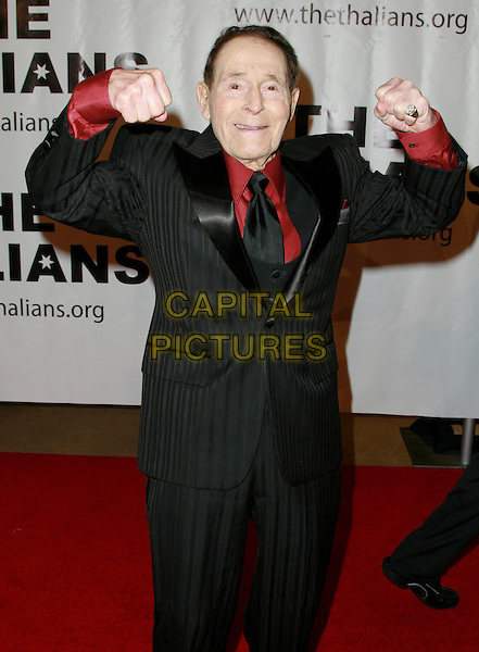 "JACK LALANE.""The Thalians"" 53rd Annual Gala Honoring Clint Eastwood held at The Beverly Hilton Hotel, Beverly Hills, California, USA..November 2nd, 2008.half length black suit hands fists .CAP/ADM/KB.©Charles Harris/AdMedia/Capital Pictures."