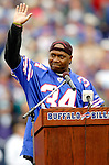 9 October 2005: Thurman Thomas, former running back for the Buffalo Bills and 2006 Hall of Fame Candidate, is honored during halftime in a game between the Buffalo Bills and the Miami Dolphins. The Bills defeated the visiting division rival Dolphins 20-14 at Ralph Wilson Stadium, in Orchard Park, NY. ..Mandatory Photo Credit: Ed Wolfstein