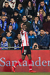 Inaki Williams Arthuer of Athletic Club de Bilbao celebrates after scoring his goal during the La Liga 2017-18 match between Getafe CF and Athletic Club at Coliseum Alfonso Perez on 19 January 2018 in Madrid, Spain. Photo by Diego Gonzalez / Power Sport Images