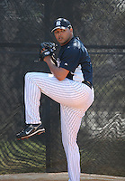 Humberto Sanchez of the New York Yankees vs the Pittsburgh Pirates March 18th, 2007 at Legends Field in Tampa, FL during Spring Training action.  Photo By Mike Janes/Four Seam Images