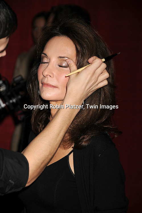 Susan Lucci having makeup put on..at The Heart Truth's Red Dress Fashion Show on February 12, 2009 at Mercedes Benz FAshion Week. Swarovski was one of the sponsers for this show. ....Robin Platzer, Twin Images