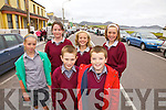 Getting a little time off school in Waterville on Thursday to watch the start of the Waterville stage of Ra?s na mBan were front l-r; Gearoid O'Sullivan, Jack Curran, back l-r; Courtney O'Sullivan, Aoibhi?n Fenton, Georgia O'Dwyer & Katelyn Curran.