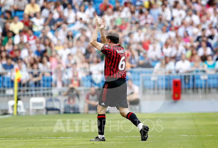 Madrid (30/05/10).- Estadio Santiago Bernabeu..Corazon Classic Match 2010.Real Madrid Veteranos 4- Milan Glorie 3.Franco Baresi...Photo: Alex Cid-Fuentes/ ALFAQUI.