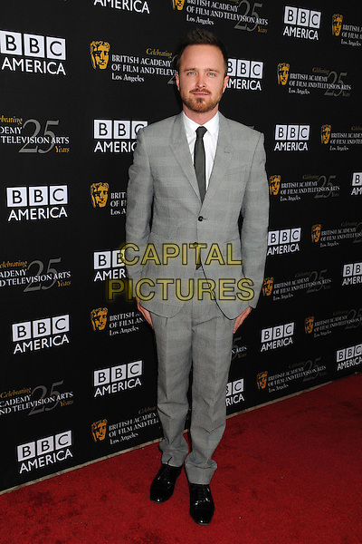 Aaron Paul.BAFTA LA TV Tea 2012 Presented by BBC America held at The London Hotel,  West Hollywood, California USA..22nd September 2012.full length grey gray suit beard facial hair  .CAP/ADM/BP.©Byron Purvis/AdMedia/Capital Pictures.