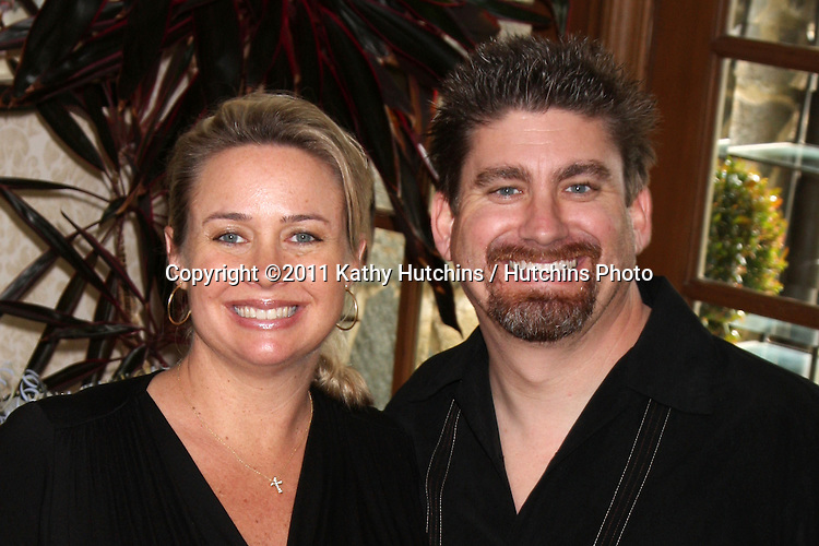 LOS ANGELES - APR 2:  Jennifer Scott  & husband at the Baby Shower for Jennifer Scott at Ed & Melody Thomas Scott's Home on April 2, 2011 in Beverly Hills, CA