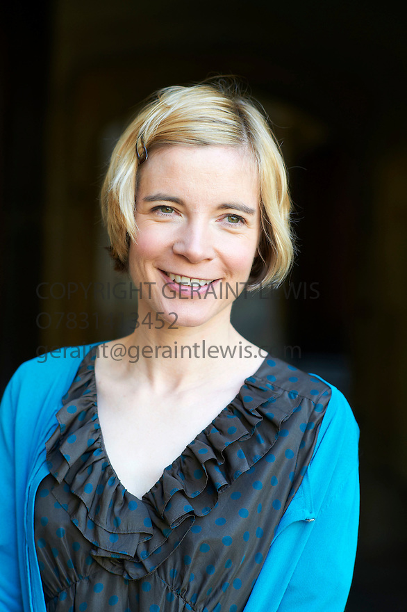 Lucy Worsley,Chief Curator of the Historic Royal Palaces and writer of If Walls Could Talk at The Oxford Literary Festival 2011 in Christchurch,  Oxford UK. CREDIT Geraint Lewis