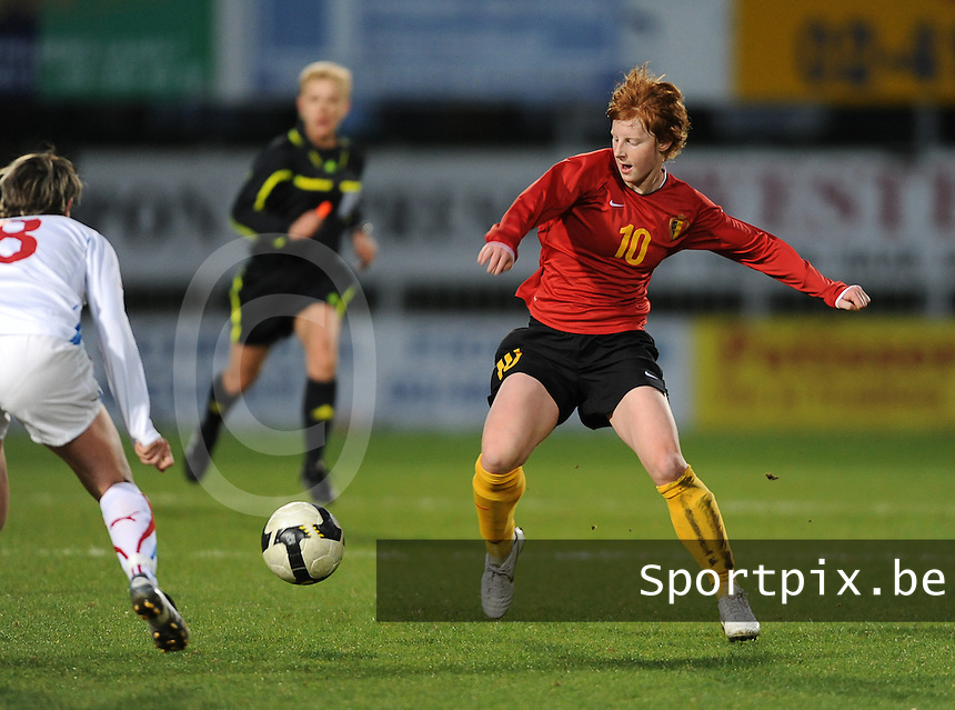 Belgium - Czech Republic : Lien Mermans.foto DAVID CATRY / Vrouwenteam.be