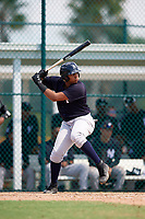 New York Yankees Dermis Garcia (31) at bat during an Instructional League game against the Pittsburgh Pirates on September 28, 2017 at Pirate City in Bradenton, Florida.  (Mike Janes/Four Seam Images)