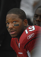 Aug 18, 2007; Glendale, AZ, USA; Arizona Cardinals wide receiver LeRon McCoy (19) against the Houston Texans at University of Phoenix Stadium. Mandatory Credit: Mark J. Rebilas-US PRESSWIRE Copyright © 2007 Mark J. Rebilas