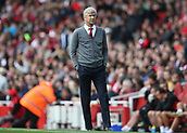 9th September 2017, Emirates Stadium, London, England; EPL Premier League Football, Arsenal versus Bournemouth; Arsenal manager Arsene Wenger looks on from the touchline