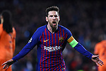 UEFA Champions League 2018/2019.<br /> Round of 16 2nd leg.<br /> FC Barcelona vs Olympique Lyonnais: 5-1.<br /> Lionel Messi.