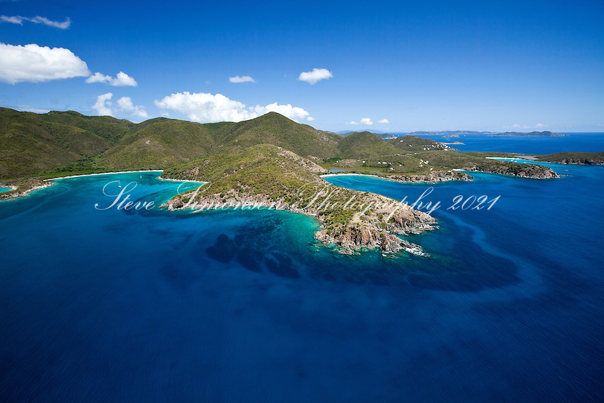 Lameshur Bay, Cabritte Point, and Grootpan Bay on the south shore<br /> Virgin Islands National Park<br /> St. John<br /> U.S. Virgin Islands