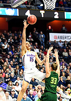 UNCASVILLE, CONNECTICUT -MAR 06: , UCONN ladies defeated USF  70-54 as #15 Gabby Williams scores two of her team high 19 points in the finals of the AAC tournament on March 6, 2018 in Uncasville, Connecticut. ( Photo by D. Heary/Eclipse Sportswire/Getty)
