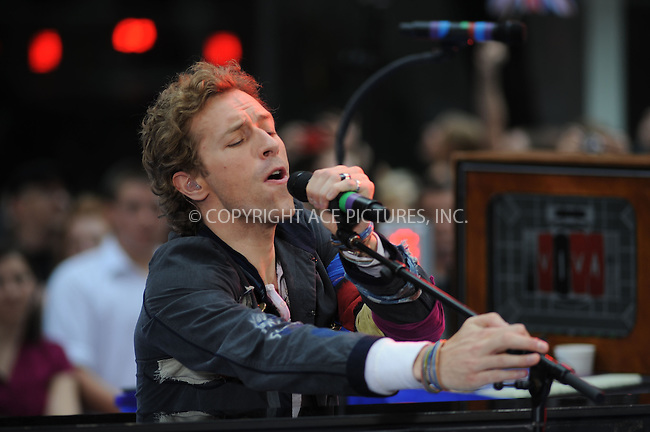 WWW.ACEPIXS.COM . . . . . ....June 27 2008, New York City....Chris Martin and Coldplay performed on NBC's 'Today' show on June 27 2008  at the Rockefeller Centre in New York City....Please byline: KRISTIN CALLAHAN - ACEPIXS.COM.. . . . . . ..Ace Pictures, Inc:  ..(646) 769 0430..e-mail: info@acepixs.com..web: http://www.acepixs.com