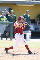 Garrett Stubbs (51) of the Southern California Trojans bats during a game against the Oregon Ducks at Dedeaux Field on April 18, 2015 in Los Angeles, California. Oregon defeated Southern California, 15-4. (Larry Goren/Four Seam Images)