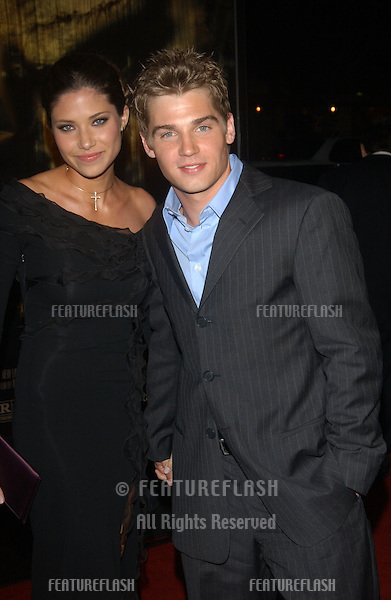 Actor MIKE VOGEL & girlfriend at the world premiere, in Hollywood, of The Texas Chainsaw Massacre..Oct 15, 2003