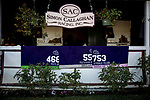OCT 28: The saddle towels from Simon Callaghan's Breeders' Cup contingent at Santa Anita Park in Arcadia, California on Oct 28, 2019. Evers/Eclipse Sportswire/Breeders' Cup