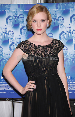 NEW YORK, NY - SEPTEMBER 11: Madisen Beaty at the NY Screening of The Master presented by The Peggy Sigal Company and TWC at the Ziegfeld Theatre in New York City. September 11, 2012. © RW/MediaPunch Inc.