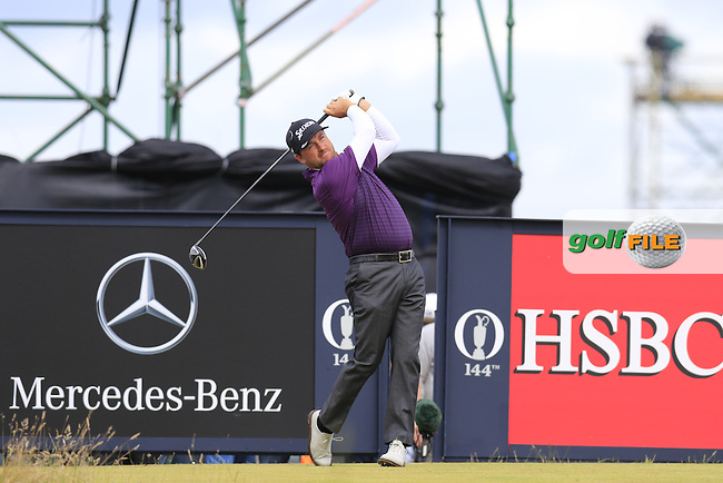Graeme McDOWELL (NIR) tees off the 16th tee during Sunday's Round  of the 144th Open Championship, St Andrews Old Course, St Andrews, Fife, Scotland. 19/07/2015.<br /> Picture Eoin Clarke, www.golffile.ie