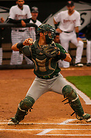 Beloit Snappers catcher Collin Theroux (23) during a Midwest League game against the Wisconsin Timber Rattlers on August 30, 2017 at Fox Cities Stadium in Appleton, Wisconsin. Wisconsin defeated Beloit 4-0. (Brad Krause/Four Seam Images)