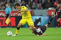 FUSSBALL   1. BUNDESLIGA   SAISON 2011/2012    4. SPIELTAG Bayer 04 Leverkusen - Borussia Dortmund              27.08.2011 Lars BENDER (re, Leverkusen) gegen Ivan PERISIC (li, Dortmund)