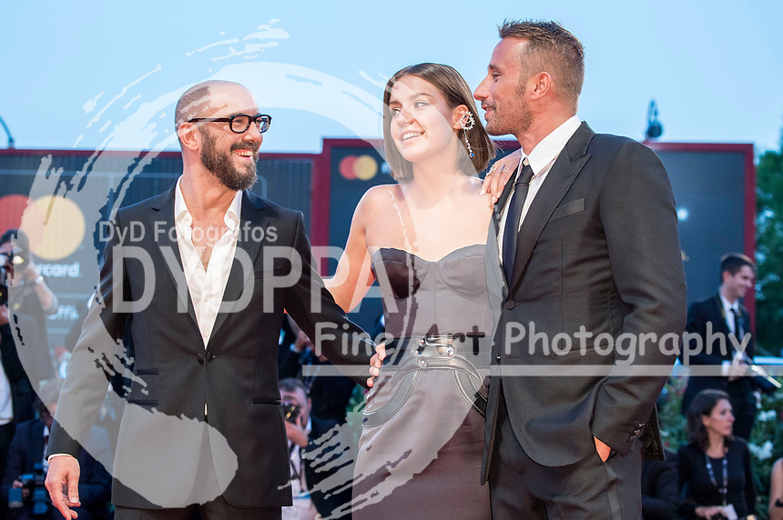 Director Michael R. Roskam, Adèle Exarchopoulos and Matthias Schoenaerts attending the 'Le Fidèle' premiere at the 74th Venice International Film Festival at the Palazzo del Cinema on September 08, 2017 in Venice, Italy