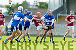 Keith Carmody Causeway in action against Michael Davis  and Seamus O'Halloran St Brendans during the Senior Kerry County Hurling Semi Finals between Causeway v Brendans at Austin Stack park on Saturday last.