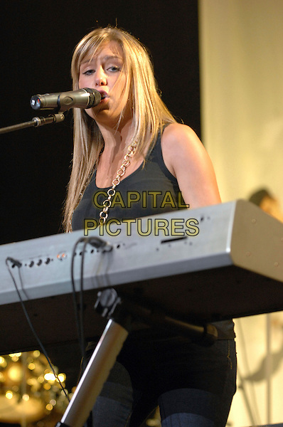 KATY SHOTTER.Performs live at the RBC Center located in Raleigh. Photo Credit: Moose/AdMedia .July 28th, 2007.half 3/4 length stage concert live gig performance music keyboards singing.CAP/ADM/MO.© Moose/AdMedia/Capital Pictures