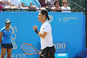 June 17th 2017, Nottingham, England; ATP Aegon Nottingham Open Tennis Tournament day 6;  Thomas Fabbiano of Italy looking pleased with a shot in his semi final match against Sam Groth of Australia