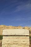 Israel, Sharon region, a Roman Sarcophagus in Caesarea