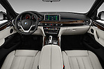 Stock photo of straight dashboard view of 2018 BMW X5 xDrive40e 5 Door SUV Dashboard