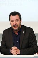 Minister of Internal Affairs Matteo Salvini<br /> Rome December 21st 2018. Palazzo Chigi. Press conference at the end of Minister's cabinet.<br /> Foto Samantha Zucchi Insidefoto