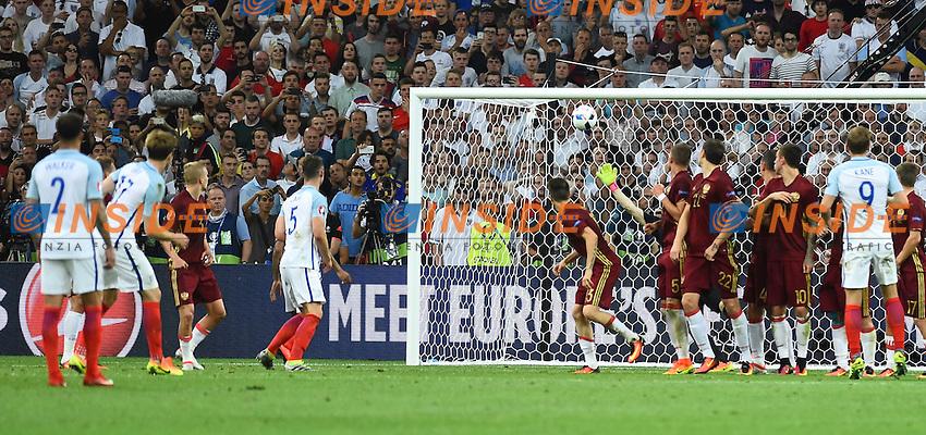 Eric Dier Nr 17 England scores goal of 1-0 Gol <br /> Marseille 11-06-2016 Stade Velodrome football Euro2016 England - Russia  / Inghilterra - Russia Group Stage Group B. Foto Massimo Insabato / Insidefoto