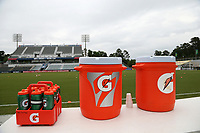 Cary, North Carolina  - Wednesday May 24, 2017: Gatorade coolers prior to a regular season National Women's Soccer League (NWSL) match between the North Carolina Courage and the Sky Blue FC at Sahlen's Stadium at WakeMed Soccer Park. The Courage won the game 2-0.