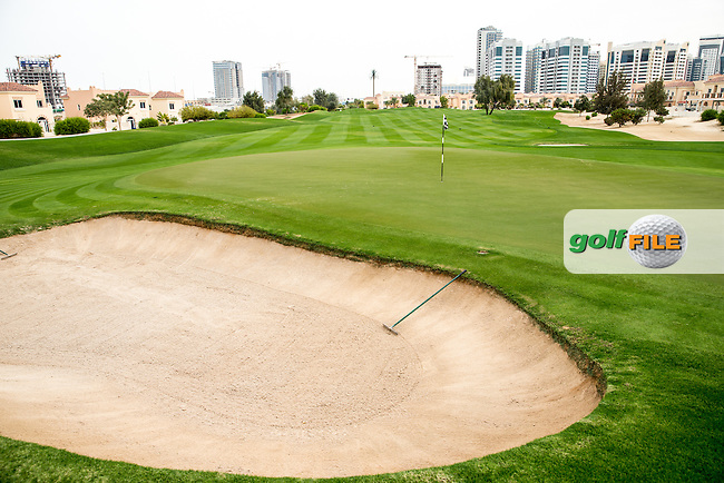 5th green at The Els Club , Dubai, United Arab Emirates.  28/01/2016. Picture: Golffile | David Lloyd<br /> <br /> All photos usage must carry mandatory copyright credit (&copy; Golffile | David Lloyd)