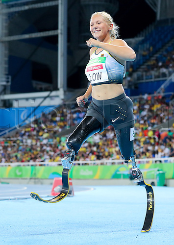 17.09.2016. Rio de Janeiro, Brazil. Vanessa Low of Germany reacts after Women's 100m - T42, Final during the Rio 2016 Paralympic Games, Rio de Janeiro, Brazil, 17 September 2016.