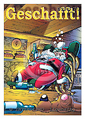 Eberle, Comics, CHRISTMAS SANTA, SNOWMAN, paintings, DTPC70,#X# Weihnachten, Navidad, illustrations, pinturas