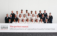 PICTURE BY VAUGHN RIDLEY/SWPIX.COM - Cricket - County Championship - Lancashire County Cricket Club 2012 Media Day - Old Trafford, Manchester, England - 03/04/12 - The Lancashire CCC players, coaches and management gather in The Point for the 2012 photo call.  University of Salford sponsor.