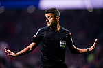FIFA Referee Jesus Gil Manzano gestures during the La Liga 2018-19 match between Atletico Madrid and FC Barcelona at Wanda Metropolitano on November 24 2018 in Madrid, Spain. Photo by Diego Souto / Power Sport Images