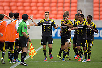 HOUSTON, Texas - July 20, 2013: Real Salt Lake AZ. defeated Solar Chelsea 4-2 to win the 2013 U-15/16 US Soccer Development Academy Championship Final at BBVA Compass stadium.