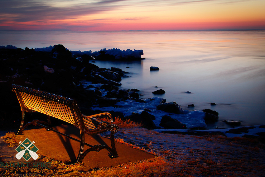 &quot;Anticipation&quot;<br /> <br /> Winter sunrise at Brighton Beach in Duluth.