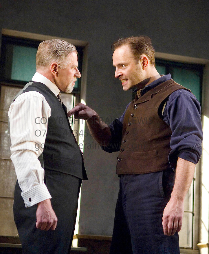 Philistines by Maxim Gorky, a new version by Andrew Upton ,directed by Howard Davies . With Phil Davis as Vassily, Mark Bonnar as Nil,. Opens at the Lyttleton   Theatre   on 30/5/07   CREDIT Geraint Lewis